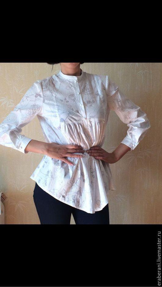 Блузки ручной работы. Ярмарка Мастеров - ручная работа. Купить Блузка из жатого хлопка. Handmade. Блузка женская, блузка-туника