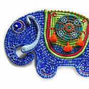 Картины и панно ручной работы. Ярмарка Мастеров - ручная работа Синий слон. Handmade.