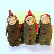 Куклы и игрушки ручной работы. Ярмарка Мастеров - ручная работа Крошка на ладошке - обезьянка Мими. Handmade.