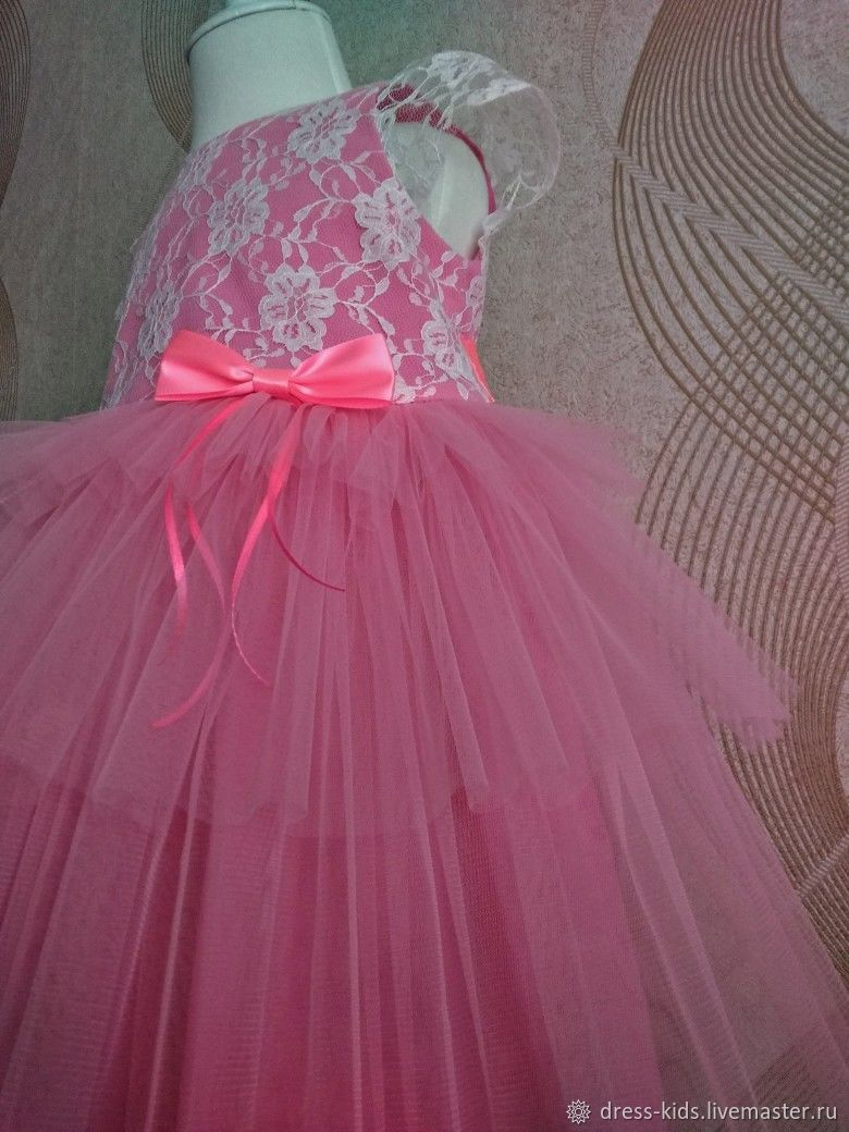 """Нарядное платье """" Розовое пирожное"""""""