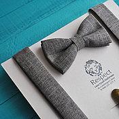 Аксессуары handmade. Livemaster - original item Taupe tie Suspenders rustic Wild West. Handmade.
