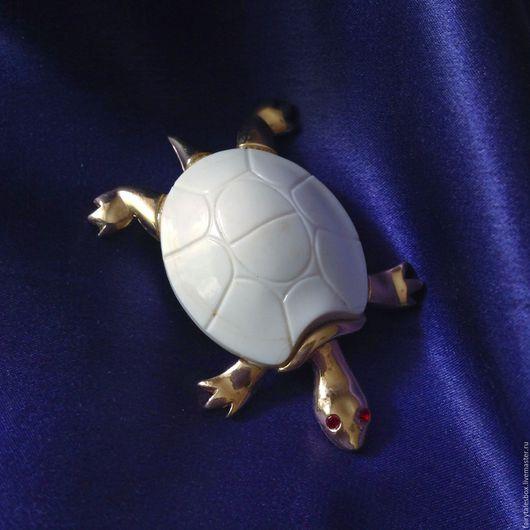 Винтажные украшения. Ярмарка Мастеров - ручная работа. Купить Брошь KRAMER черепаха, винтаж. Handmade. Черепашки из сундучка, черепашка