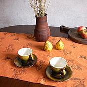 Для дома и интерьера handmade. Livemaster - original item Linen path on the table