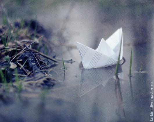Фотокартины ручной работы. Ярмарка Мастеров - ручная работа. Купить Кораблик. Handmade. Сиреневый, весна, ручей, картина, подарок, фотокартина