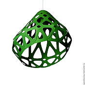 Для дома и интерьера handmade. Livemaster - original item ZAHA LIGHT dark green ceiling pendant lamp.. Handmade.