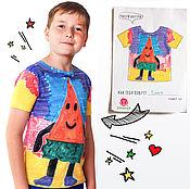 Одежда ручной работы. Ярмарка Мастеров - ручная работа Футболка с рисунком Вашего ребенка. Handmade.