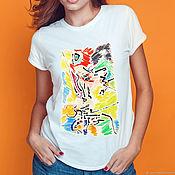 T-shirts handmade. Livemaster - original item T-shirt women`s life of an ant. Handmade.