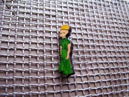 Броши ручной работы. Ярмарка Мастеров - ручная работа. Купить Маленький принц- брошь/магнит/кольцо/брелок. Handmade. Разноцветный, деревянный значок, wooden