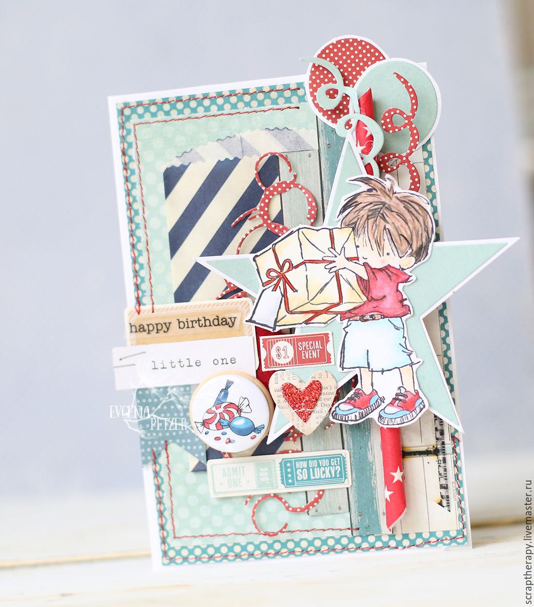 Открытки именин, скрапбукинг открытка для мальчика 5 лет