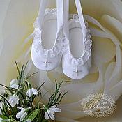 Работы для детей, handmade. Livemaster - original item Baptismal shoes. Handmade.