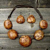 Украшения handmade. Livemaster - original item Necklace with Capa willow earrings. Handmade.