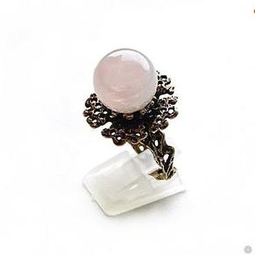 """Украшения ручной работы. Ярмарка Мастеров - ручная работа Розовый кварц.  """"Merisa"""" кольцо с розовым кварцем. Handmade."""