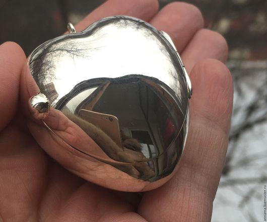 Для украшений ручной работы. Ярмарка Мастеров - ручная работа. Купить Медальон-коробочка Райское яблочко серебро 925. Handmade.