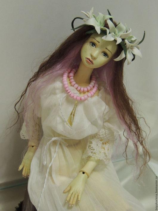 Коллекционные куклы ручной работы. Ярмарка Мастеров - ручная работа. Купить Шарнирная кукла Белая  панночка. Handmade. Белый