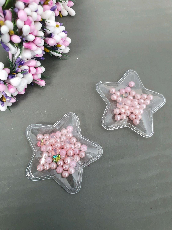Прозрачные звезды с бусинками, Аппликации вставки отделка, Москва, Фото №1
