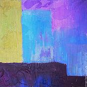 Картины и панно ручной работы. Ярмарка Мастеров - ручная работа абстрактная красота на голубом. Handmade.