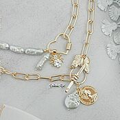 Украшения handmade. Livemaster - original item Set of two necklaces with pearls and a coin