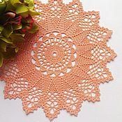 Для дома и интерьера ручной работы. Ярмарка Мастеров - ручная работа Салфетка кружевная Коралловая звезда. Handmade.