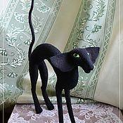 Куклы и игрушки ручной работы. Ярмарка Мастеров - ручная работа Чёрный ориентальный кот. Handmade.