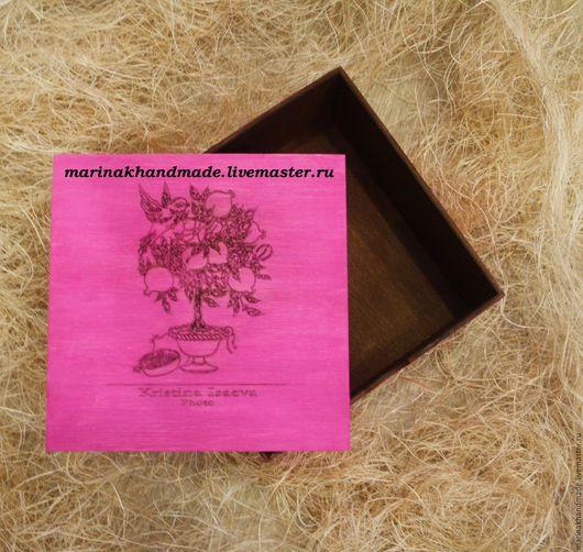 Шкатулки ручной работы. Ярмарка Мастеров - ручная работа. Купить Коробка для фотографий/мелочей. Handmade. Фуксия, шкатулка, шкатулка ручной работы