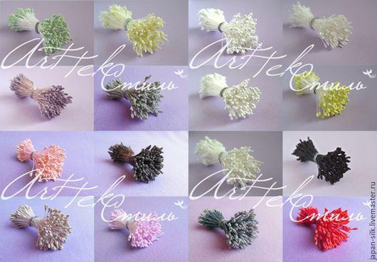 Материалы для флористики ручной работы. Ярмарка Мастеров - ручная работа. Купить Тычинки японские разные (3-4 мм). Handmade.