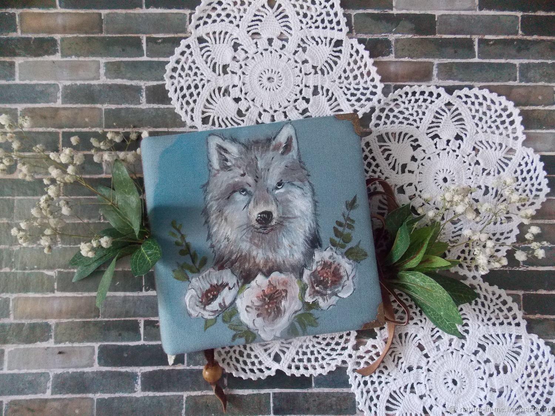 """Блокноты ручной работы. Ярмарка Мастеров - ручная работа. Купить Блокнот""""Сказочный волк"""". Handmade. Скрапбукинг, ручная работа, подарок женщине"""
