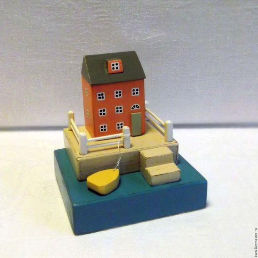"""Статуэтки ручной работы. Ярмарка Мастеров - ручная работа. Купить миниатюра """"Тёплое настроение"""". Handmade. Комбинированный, декор дома, море"""
