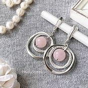 Украшения handmade. Livemaster - original item Harmony rose quartz earrings, spheres, clasps. Handmade.
