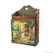 Для дома и интерьера handmade. Livemaster - original item Key holder wall mount wooden