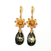 Украшения handmade. Livemaster - original item Earrings Swarovski. Handmade.