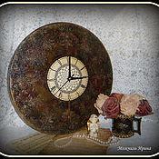 """Для дома и интерьера ручной работы. Ярмарка Мастеров - ручная работа Часы большие """"Время в камне"""". Handmade."""