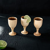 Посуда handmade. Livemaster - original item Set of glasses (stacks) on a leg made of Siberian cedar RN5. Handmade.