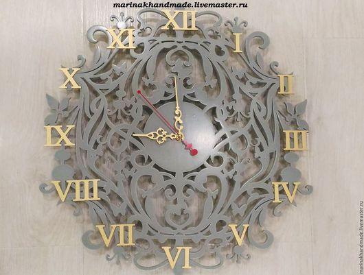 Часы для дома ручной работы. Ярмарка Мастеров - ручная работа. Купить Часы. Handmade. Серый, часы, часы интерьерные