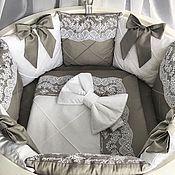 Бортики в кроватку ручной работы. Ярмарка Мастеров - ручная работа Бортики в кроватку комплект. Handmade.