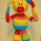 Куклы и игрушки ручной работы. Ярмарка Мастеров - ручная работа Радужный зайка, описание вязания.. Handmade.