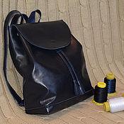 Сумки и аксессуары ручной работы. Ярмарка Мастеров - ручная работа кожаный рюкзак. Handmade.