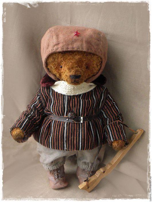 Мишки Тедди ручной работы. Ярмарка Мастеров - ручная работа. Купить Потапка. Handmade. Комбинированный, мишка в одежке