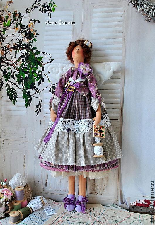 """Куклы Тильды ручной работы. Ярмарка Мастеров - ручная работа. Купить Тильда швея. """"Шей моя иголочка..."""". Handmade."""