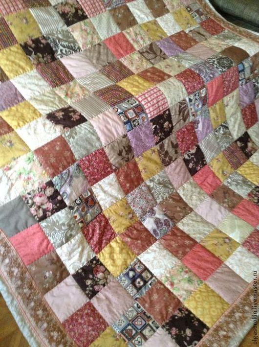 Текстиль, ковры ручной работы. Ярмарка Мастеров - ручная работа. Купить Чайная роза. Handmade. Лоскутное шитье, лоскутный плед