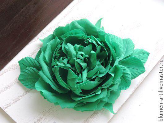 Комплекты аксессуаров ручной работы. Ярмарка Мастеров - ручная работа. Купить Старонглийская роза. Handmade. Зеленый, роза из шелка