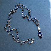 Украшения handmade. Livemaster - original item long necklace,sterling silver 925,cameo of porcelain. Handmade.