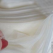 Ткани ручной работы. Ярмарка Мастеров - ручная работа Евро-фатин оригинальный матовый 3-метровый слоновая кость. Handmade.
