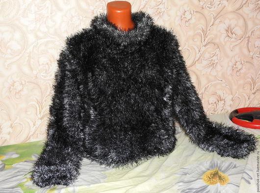 """Кофты и свитера ручной работы. Ярмарка Мастеров - ручная работа. Купить Джемпер  """"Пушистое тепло"""". Handmade. Черный, Пушистый свитер"""