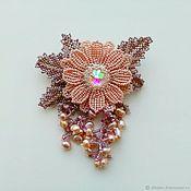 Украшения handmade. Livemaster - original item LUCITE(LUCITE) Flower brooch with natural pearls. Handmade.