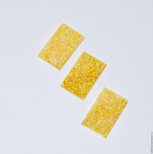 Для украшений ручной работы. Ярмарка Мастеров - ручная работа. Купить Опал пластина синт.,желтая 28,5 х 17,5. Handmade.