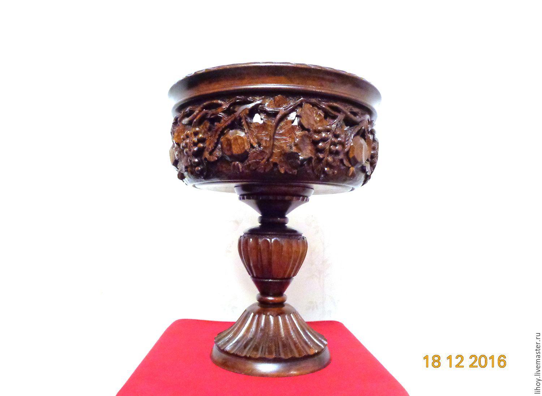 Резная ваза-фруктовница, Вазы, Краснодар,  Фото №1