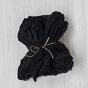 Материалы для творчества handmade. Livemaster - original item Silk handkerchiefs Darkness 10 gr. Italy. Handmade.
