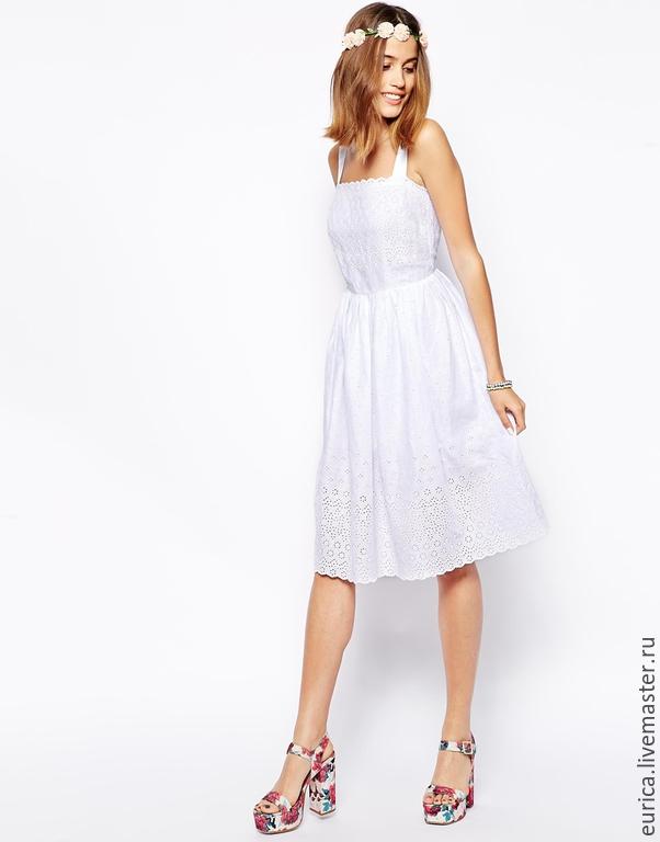 Платье белое шитье купить