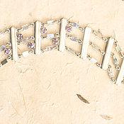 Украшения ручной работы. Ярмарка Мастеров - ручная работа Браслет серебряный  с аметистом. Handmade.