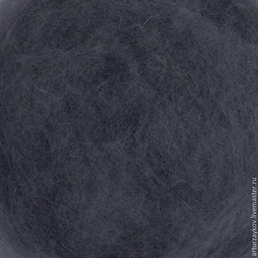 Валяние ручной работы. Ярмарка Мастеров - ручная работа. Купить Кардочес Маори Гроза 27 мкр. Handmade. Темно-серый